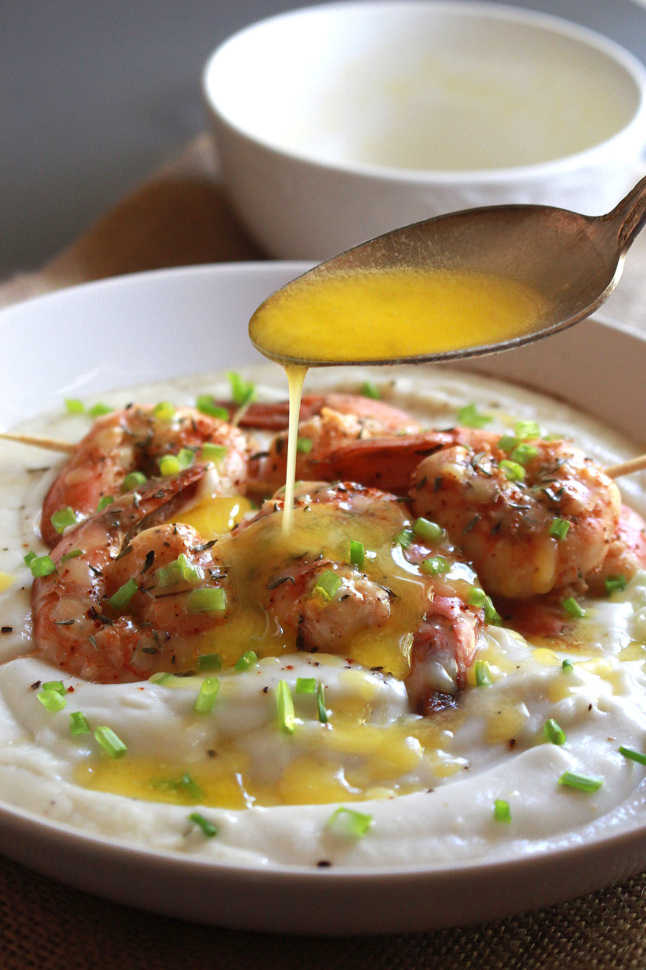 GARLIC LIME SHRIMP with CAULIFLOWER PURÉE