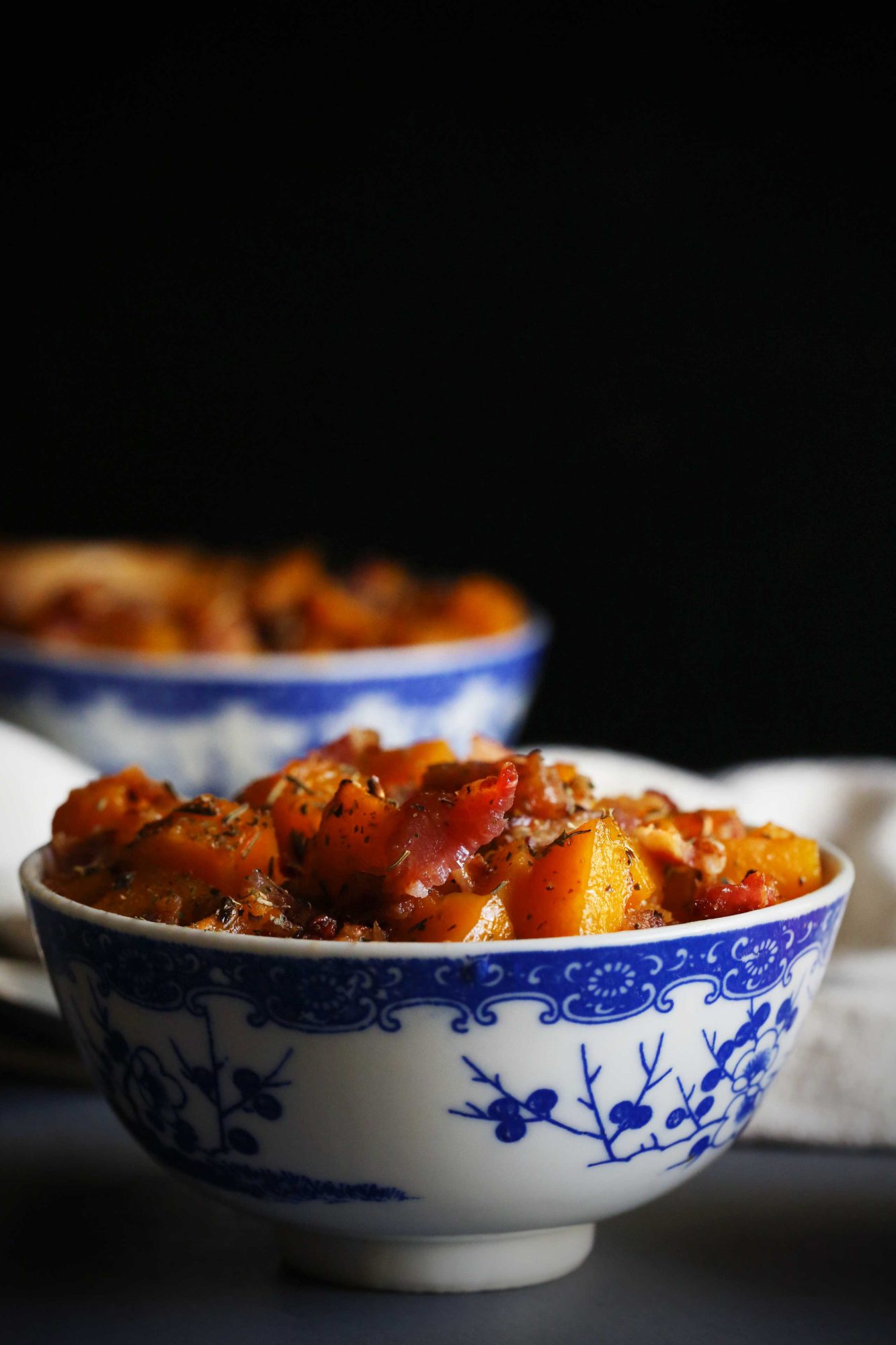 Maple Roasted Butternut Squash with Bacon Crumbles