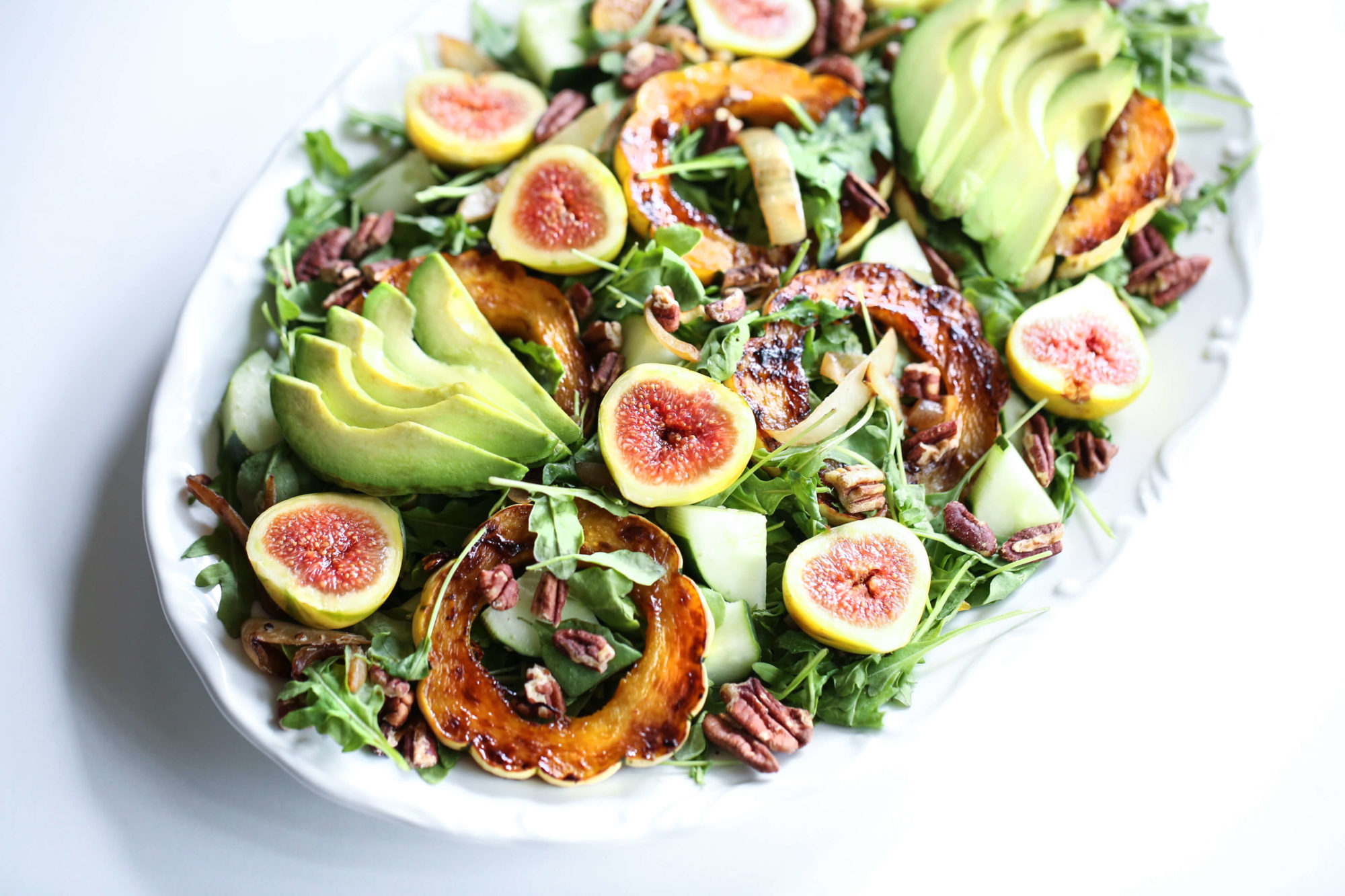 Autumn Salad with Caramelized Delicata Squash & Maple Vinaigrette