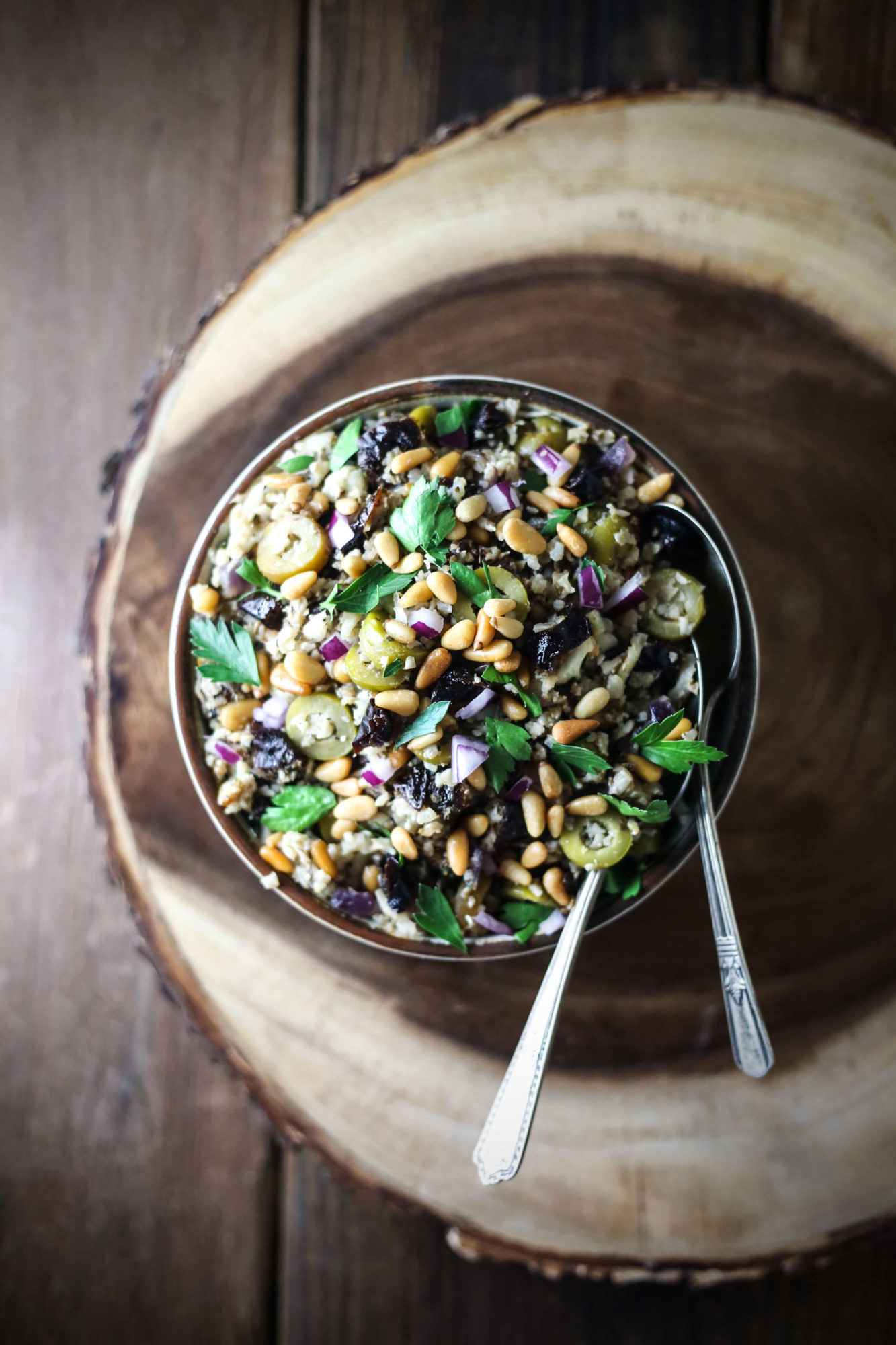 Herbed Cauliflower Rice with California Prunes