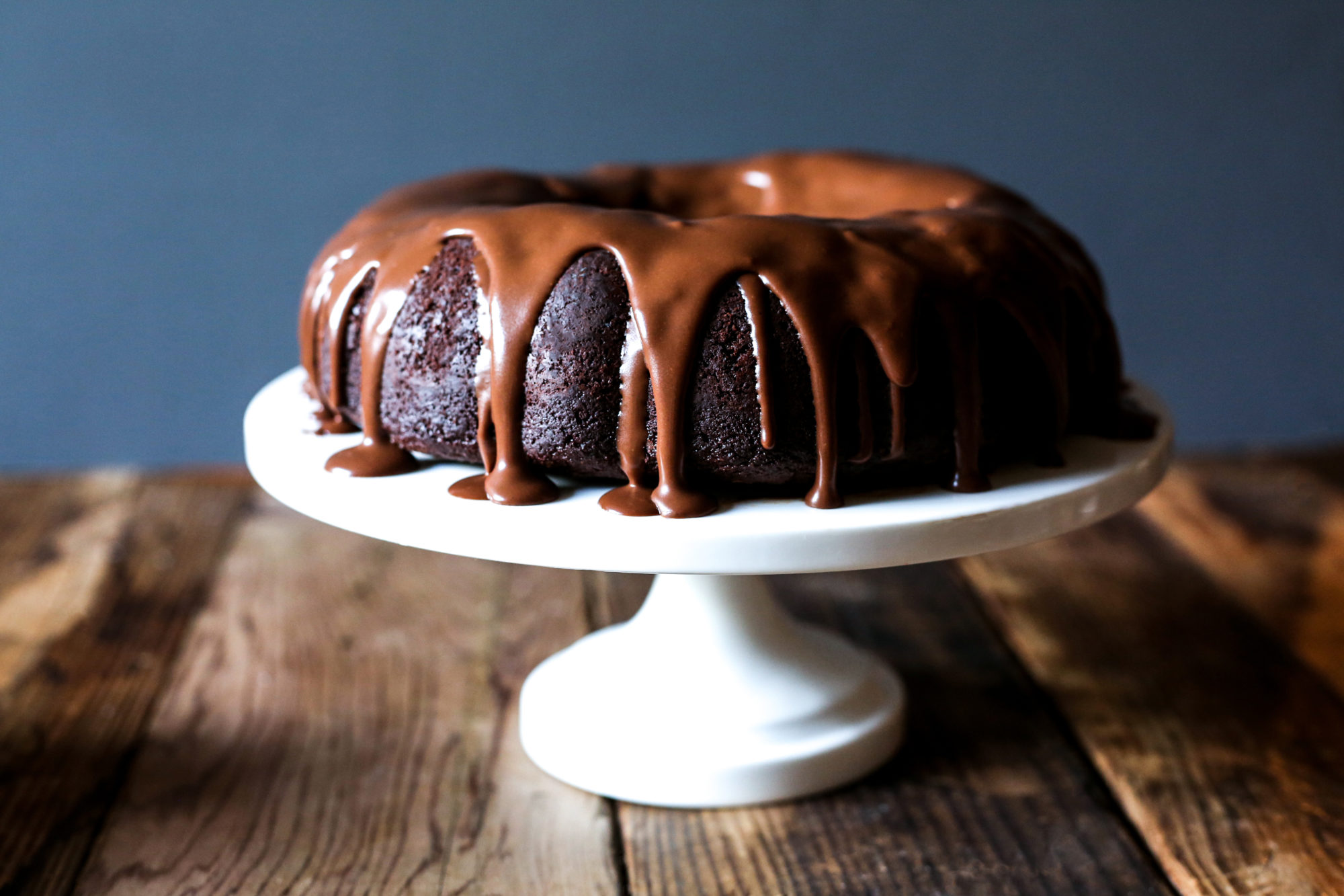 Paleo Chocolate Bundt Cake with Chocolate Peppermint Ganache