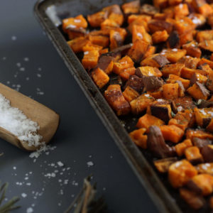 Quick Crispy Roasted Sweet Potatoes